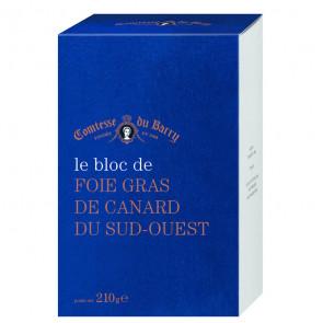 Bloc de foie gras de pato 210 gr. Comtesse Du Barry