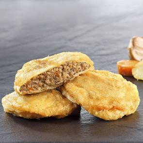 Patata de Olot (rellena de carne)