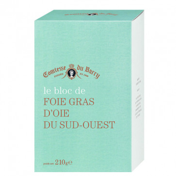 Bloc de foie gras de oca 210 gr. Comtesse Du Barry