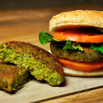 Hamburguesa Vegetal (Espinacas) 100 gr. Ud. | Bolsa 12 Uds.