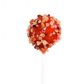 Lollipop de mango, tomate y avellanas
