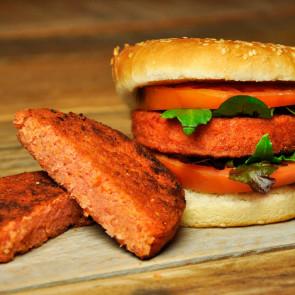 Hamburguesa carne vegetal (remolacha)  100 gr. Bolsa 12 udes.