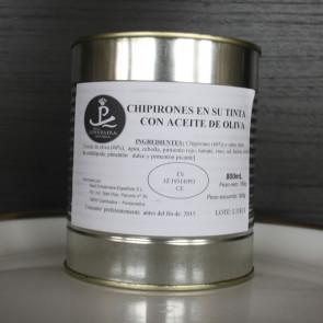 Chipirones en su Tinta en aceite oliva